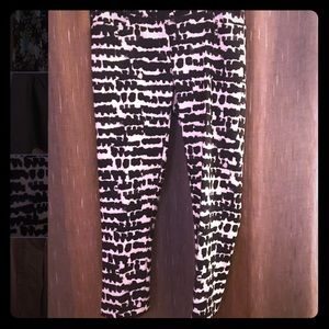 Black & White Print Pants - Size 14